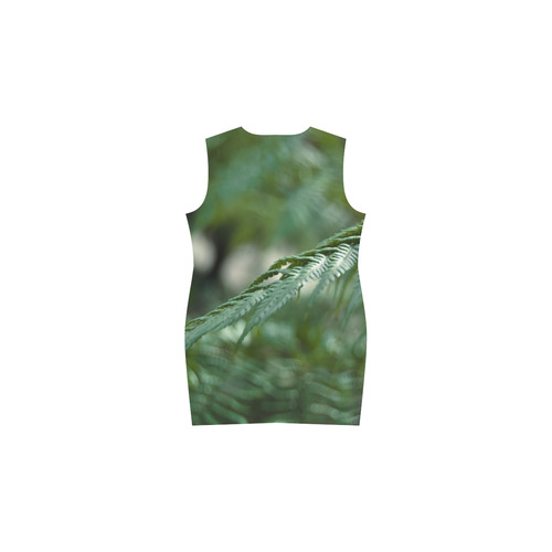 Nature green Phoebe Sleeveless V-Neck Dress (Model D09)