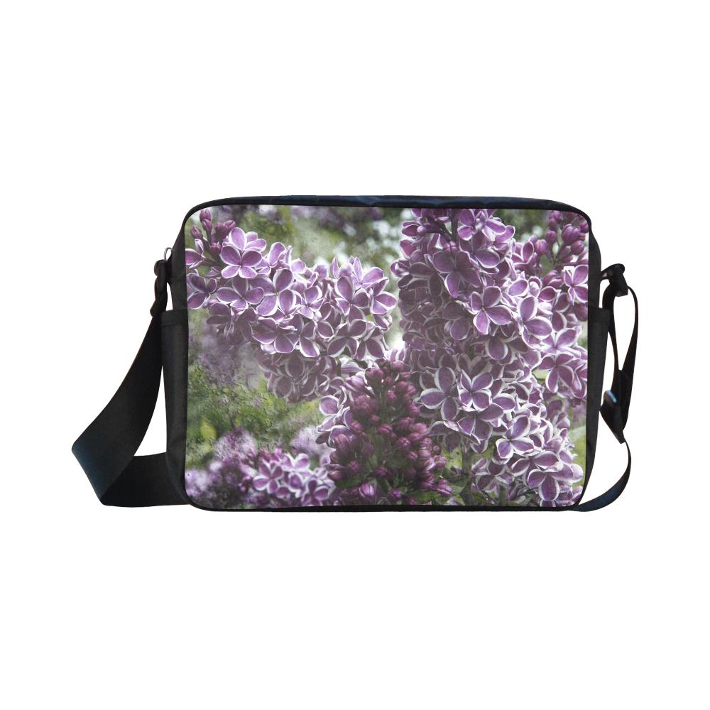 Lilac flowers Classic Cross-body Nylon Bags (Model 1632)