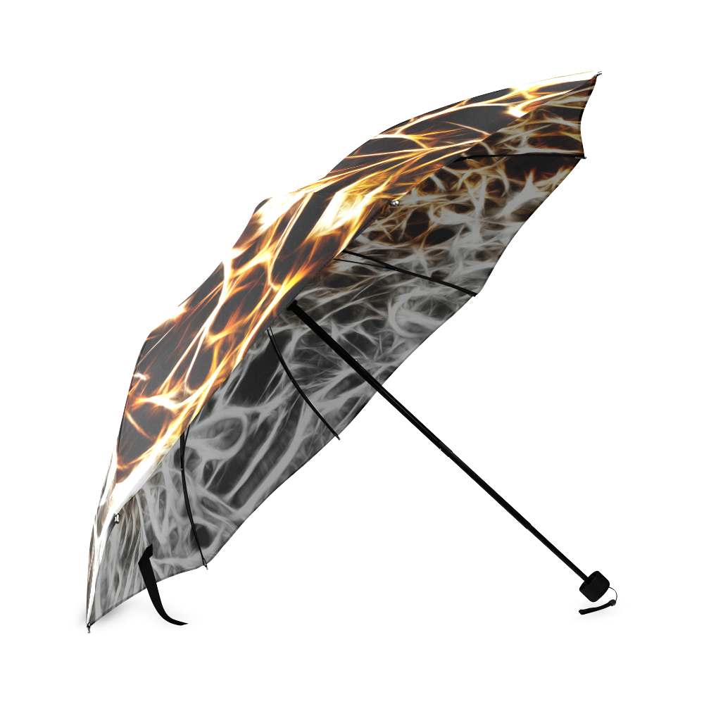 Foliage #10 Gold & Silver - Jera Nour Foldable Umbrella (Model U01)