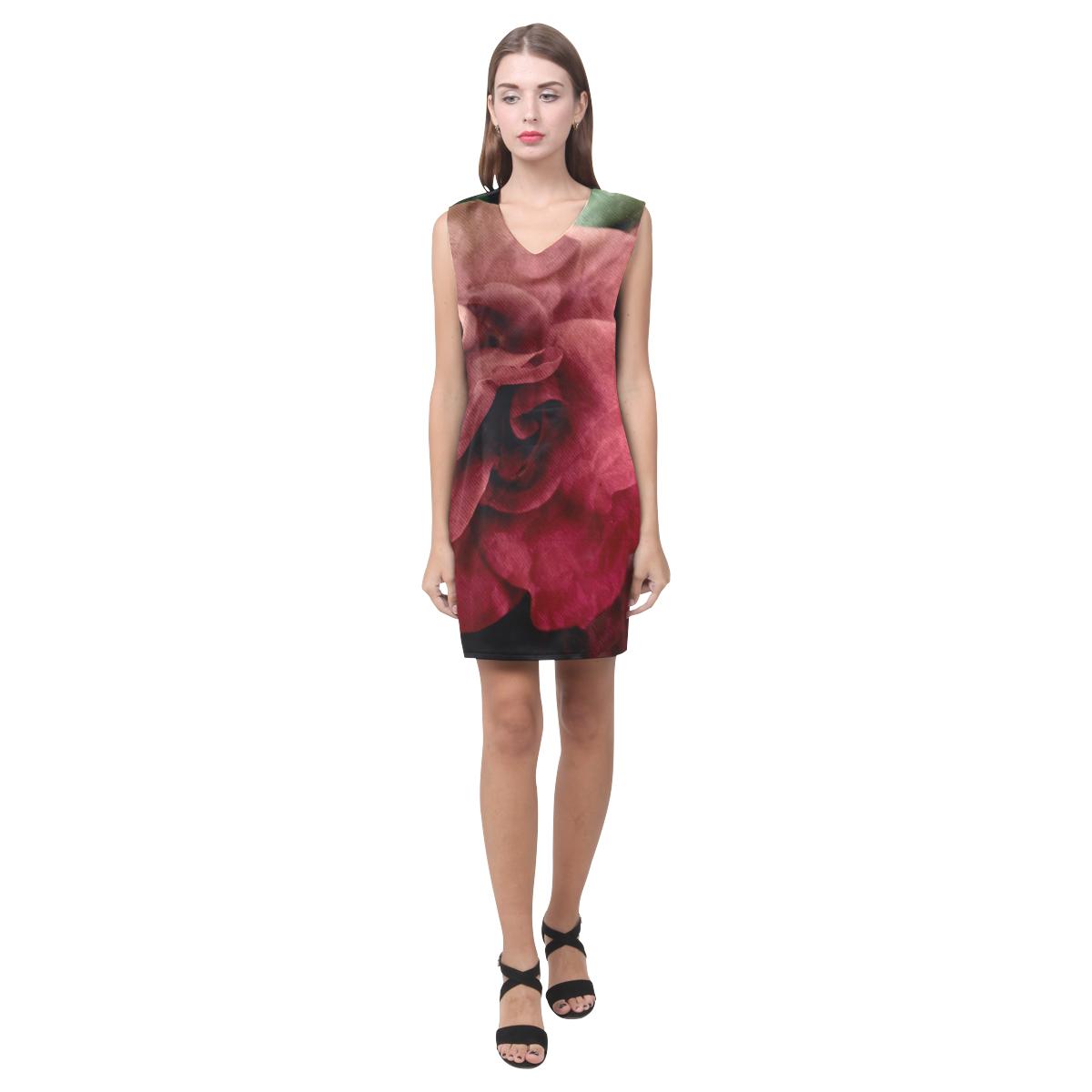 Rose Phoebe Sleeveless V-Neck Dress (Model D09)