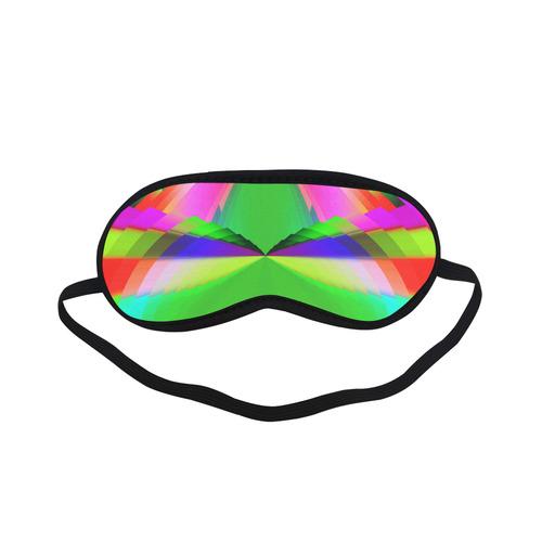 Multicolor Shimmering Fractal Design Sleeping Mask
