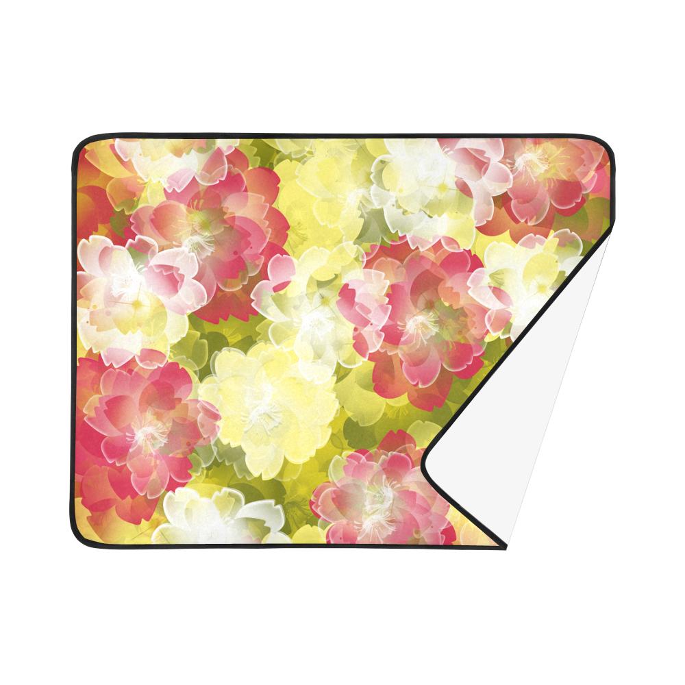 """Flower Power Blossom Beach Mat 78""""x 60"""""""