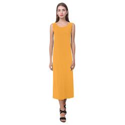 Radiant Yellow Phaedra Sleeveless Open Fork Long Dress (Model D08)