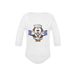 sailor owl Baby Powder Organic Long Sleeve One Piece (Model T27)