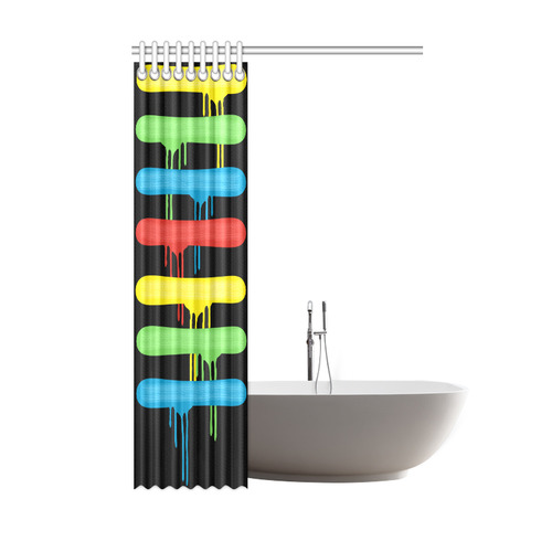"Rainbow Strokes of the Brush Shower Curtain 48""x72"""