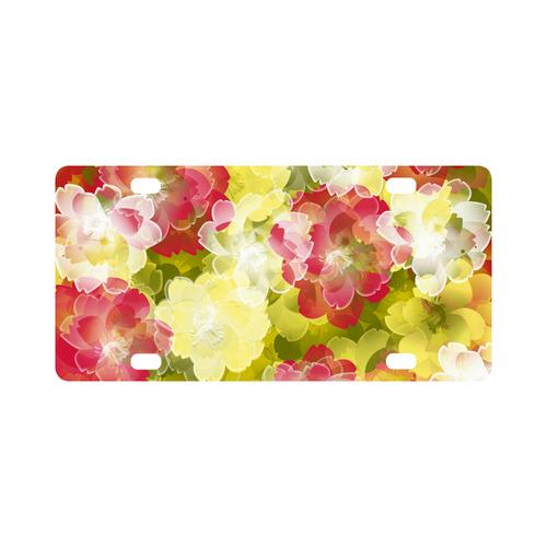 Flower Power Blossom Classic License Plate