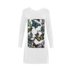 Butterflies and Flowers Demeter Long Sleeve Nightdress (Model D03)