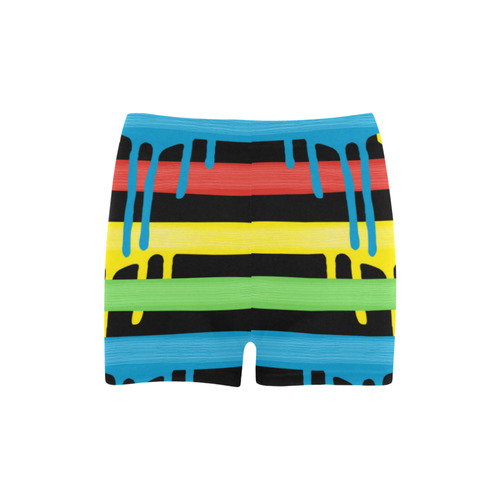 Colorful Rainbow Strokes of the Brush Briseis Skinny Shorts (Model L04)