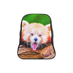 animal ArtStudio 5916 red Panda School Backpack/Large (Model 1601)