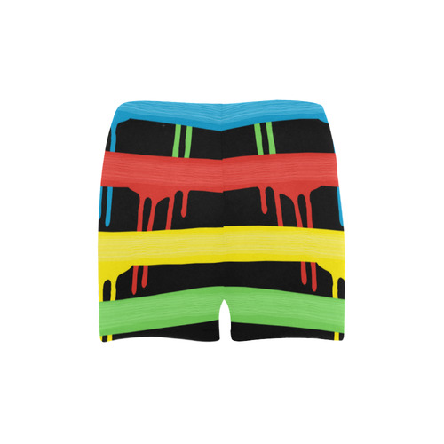 Rainbow Strokes of the Brush Briseis Skinny Shorts (Model L04)