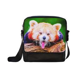 animal ArtStudio 5916 red Panda Crossbody Nylon Bags (Model 1633)