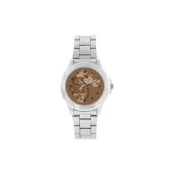 ASL I Love You Monkey Unisex Stainless Steel Watch(Model 103)