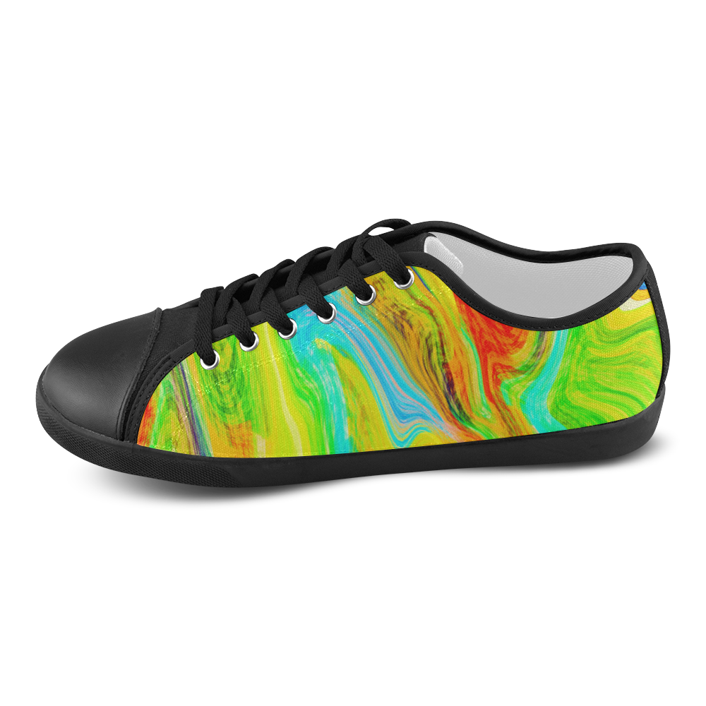 Happy Multicolor Painting Women's Canvas Shoes (Model 016)