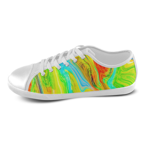 Happy Multicolor Painting Women's Canvas Shoes (Model 016)