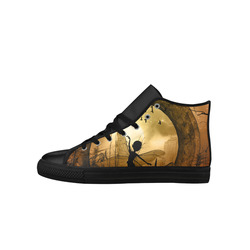 Cute fairy in the night Aquila High Top Microfiber Leather Women's Shoes (Model 027)