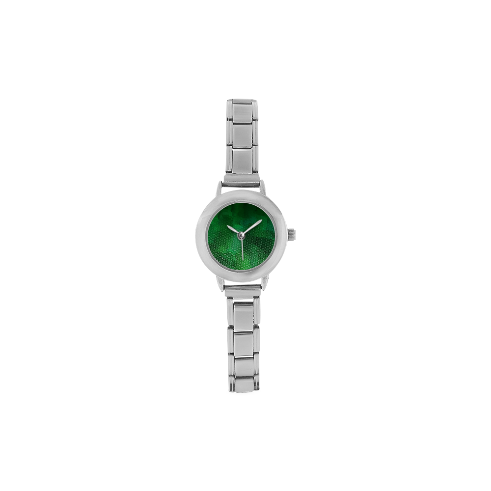 Ombre Green Abstract Forest Women's Italian Charm Watch(Model 107)