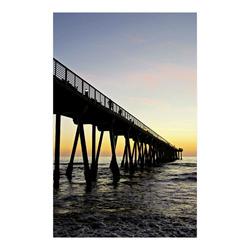 "meet at the pier, yellow sunset Poster 23""x36"""