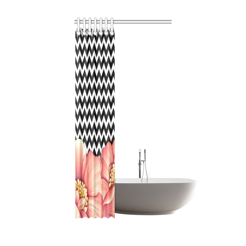 "flower power Shower Curtain 36""x72"""