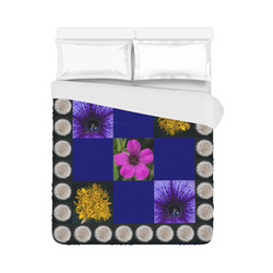 """A beautiful multi-floral design Duvet Cover 86""""x70"""" ( All-over-print)"""