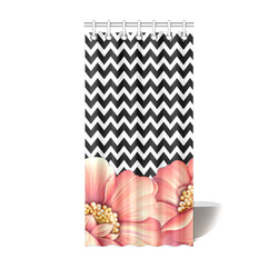 "flower power Shower Curtain 36""x72"""