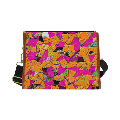 Pattern World by Artdream Waterproof Canvas Bag/All Over Print (Model 1641)