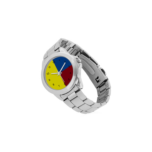 Primary Colours Unisex Stainless Steel Watch(Model 103)