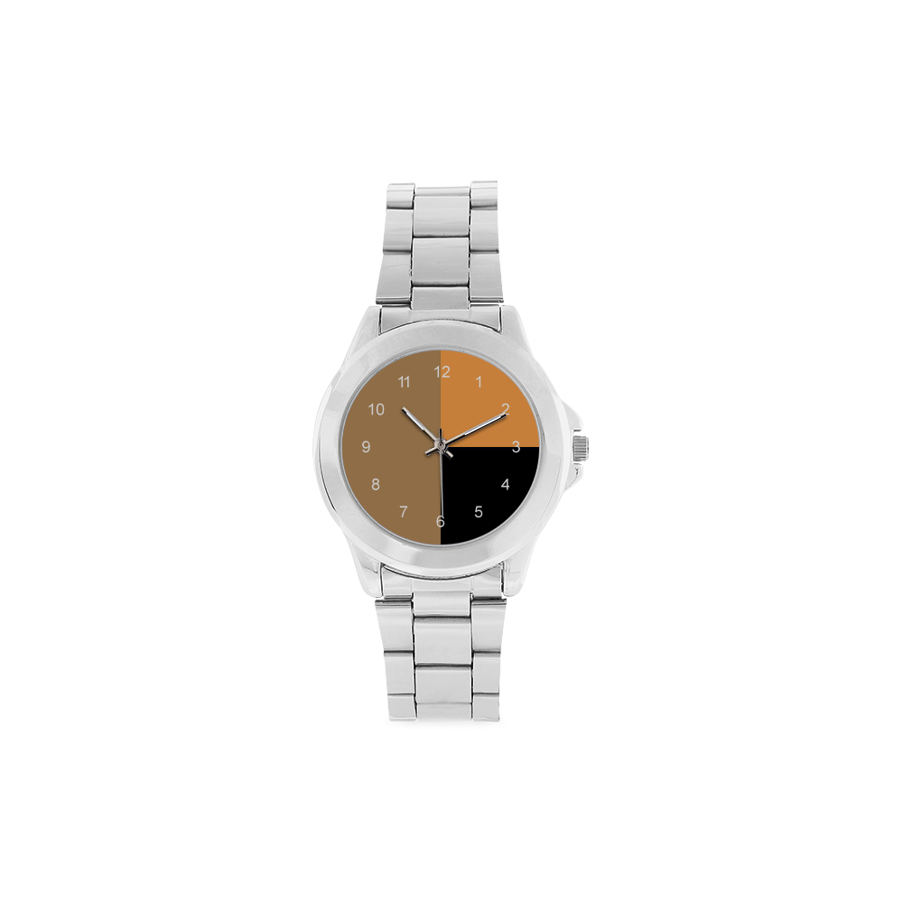 Orange Night Unisex Stainless Steel Watch(Model 103)