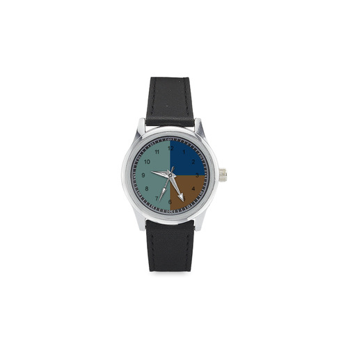 Out to Sea Kid's Stainless Steel Leather Strap Watch(Model 208)