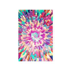 """Colorful Exploding Blocks Poster 16""""x24"""""""