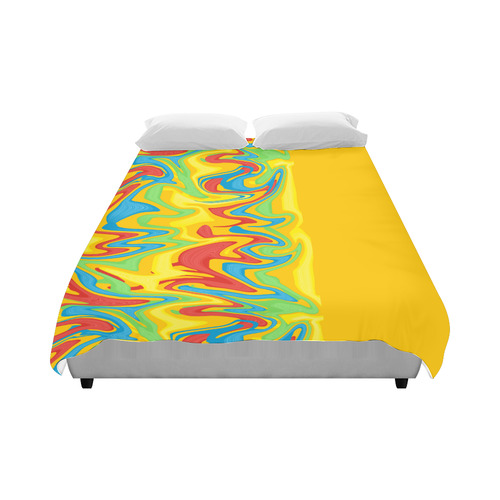 "Swirled Rainbow Duvet Cover 86""x70"" ( All-over-print)"