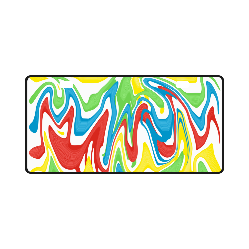 Swirled Rainbow License Plate