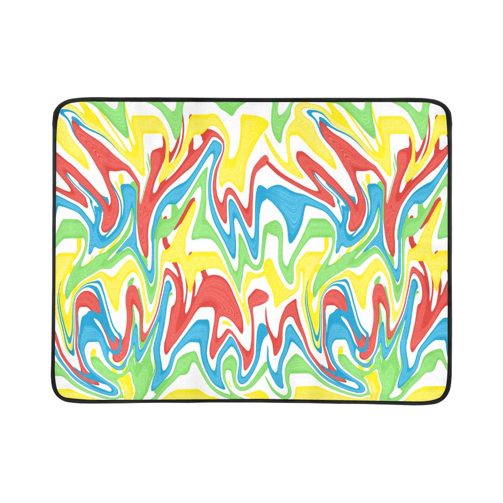 """Swirled Rainbow Beach Mat 78""""x 60"""""""