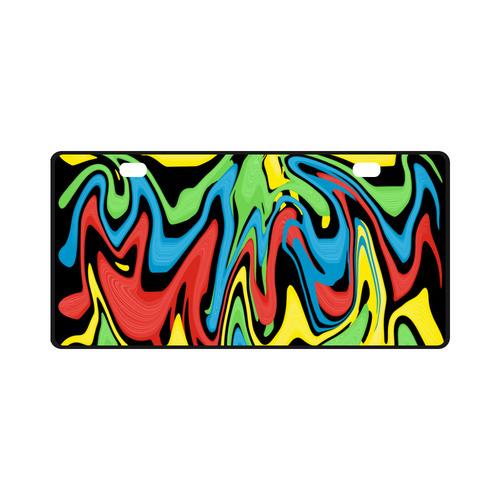 Swirled Rainbow License Plate