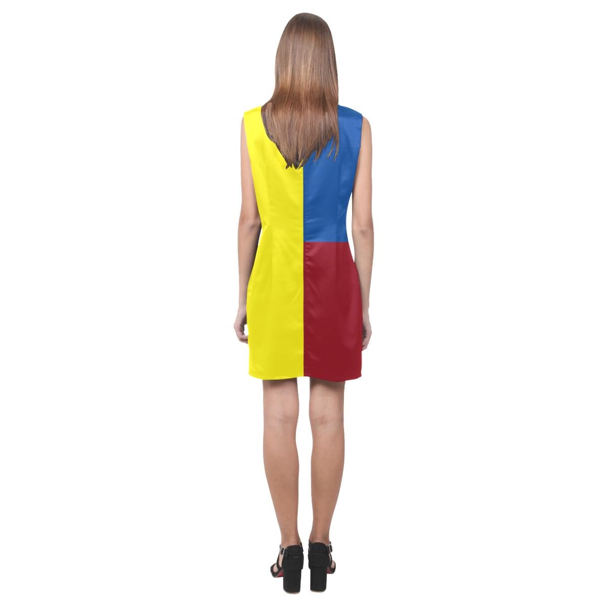 Primary Colours Phoebe Sleeveless V-Neck Dress (Model D09)