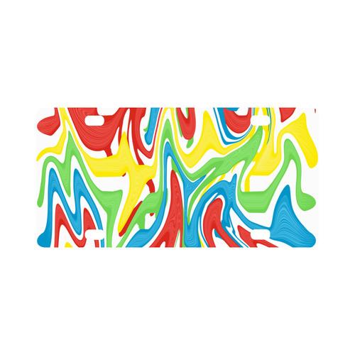 Swirled Rainbow Classic License Plate