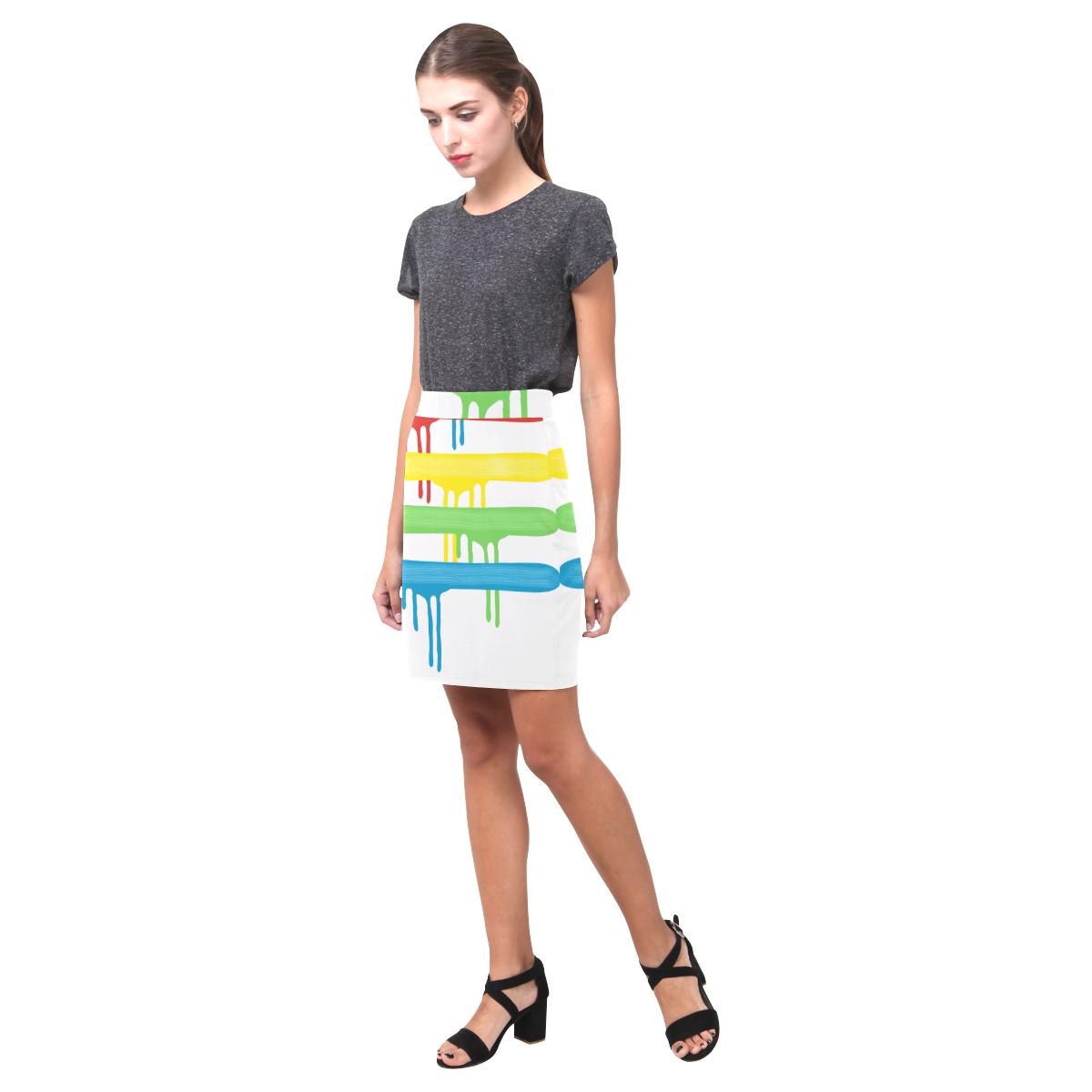 Rainbow Strokes of the Brush Nemesis Skirt (Model D02)