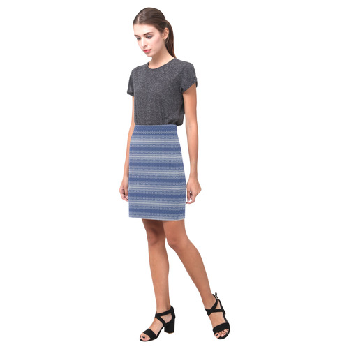Knittet Stripes Design Nemesis Skirt (Model D02)