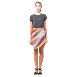 THE BIG WAVE Colorful Painting Nemesis Skirt (Model D02)