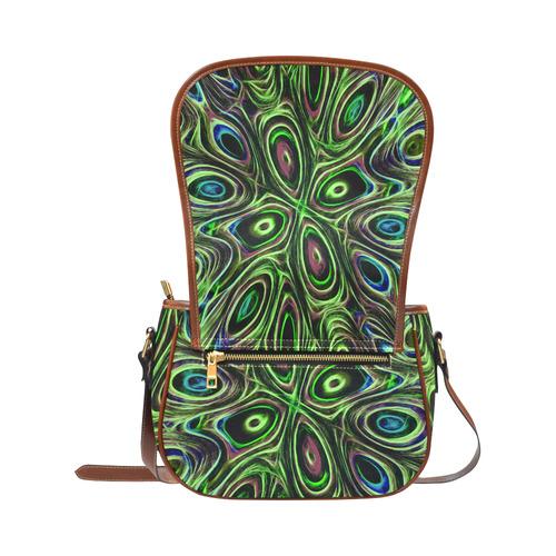 Peacock Strut III - Jera Nour Saddle Bag/Small (Model 1649) Full Customization