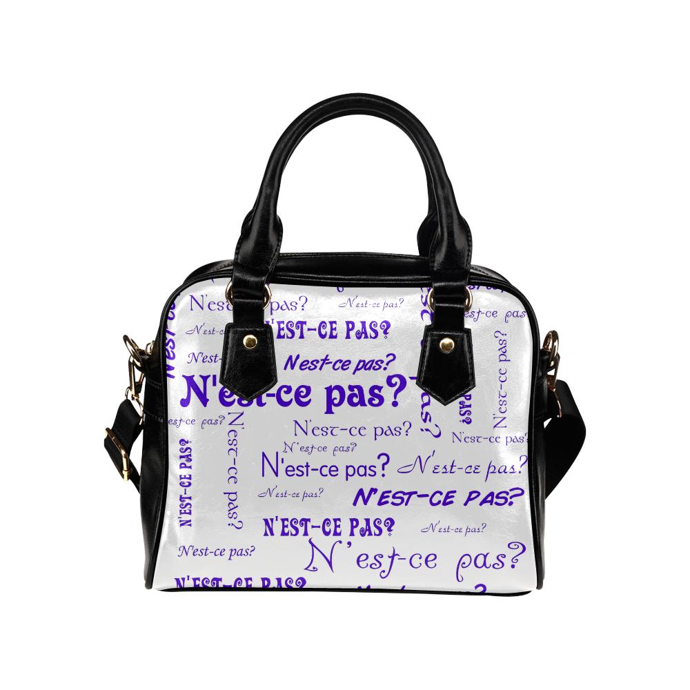 Purple N'est-ce pas Shoulder Handbag (Model 1634)
