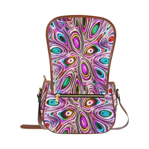 Peacock Strut I - Jera Nour Saddle Bag/Small (Model 1649) Full Customization