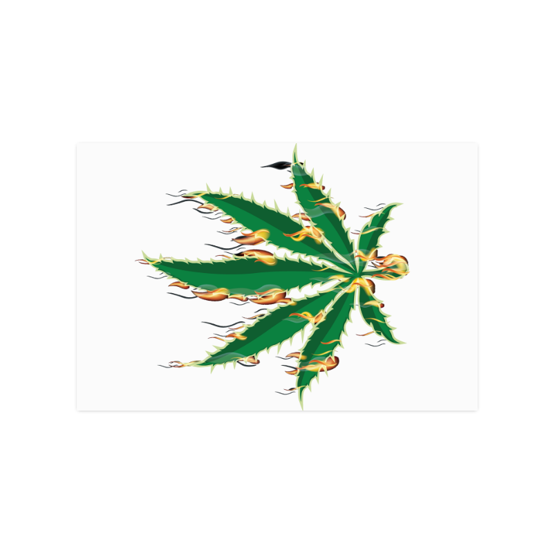 "Flaming Marijuana Leaf Poster 16""x24"""