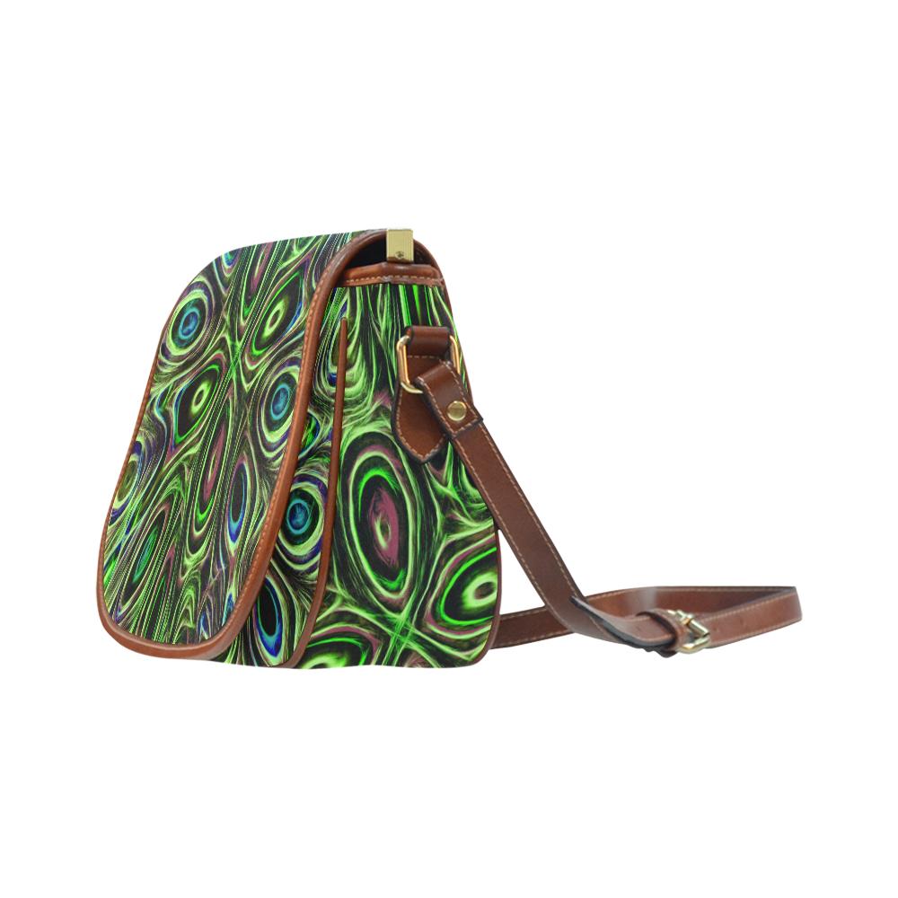 Peacock Strut III - Jera Nour Saddle Bag/Large (Model 1649)