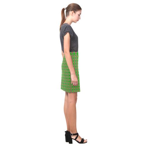 Abstract Flower Fractal Pattern Nemesis Skirt (Model D02)