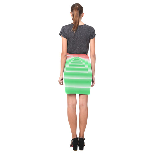 Colorful Endless Window Green Red Blue Nemesis Skirt (Model D02)