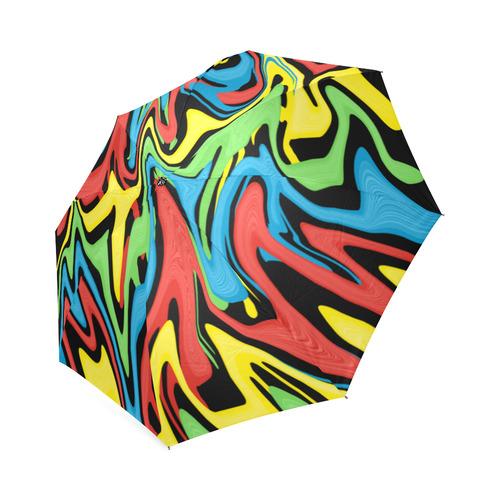 Swirled Rainbow Foldable Umbrella (Model U01)