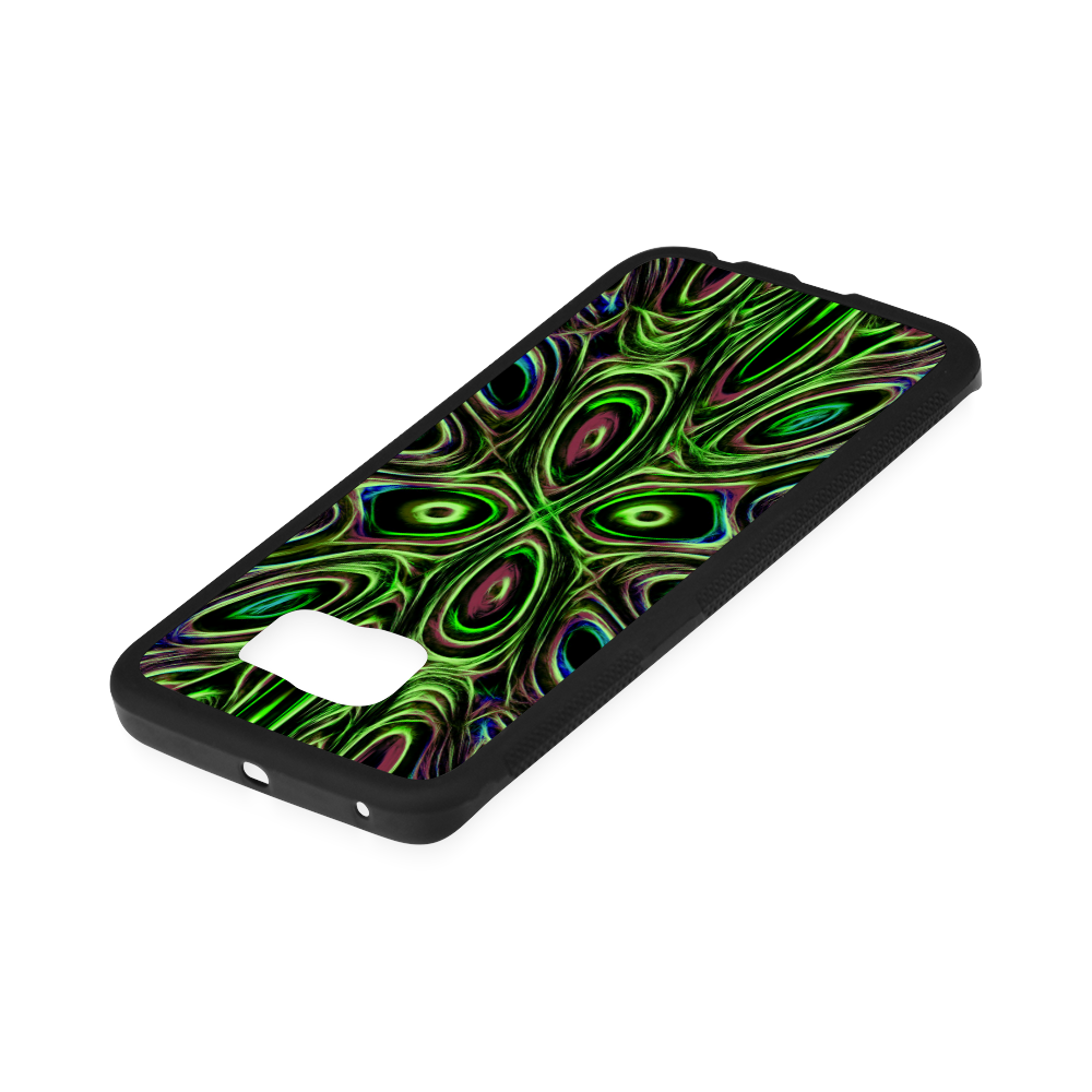 Peacock Strut III - Jera Nour Rubber Case for Samsung Galaxy S6 Edge