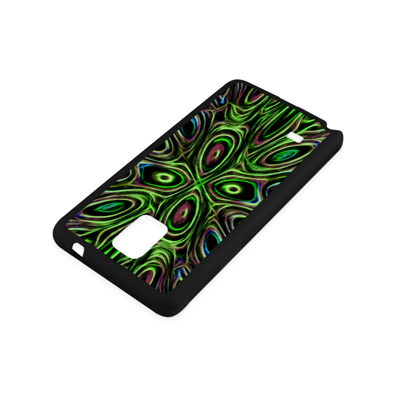 Peacock Strut III - Jera Nour Rubber Case for Samsung Galaxy Note 4