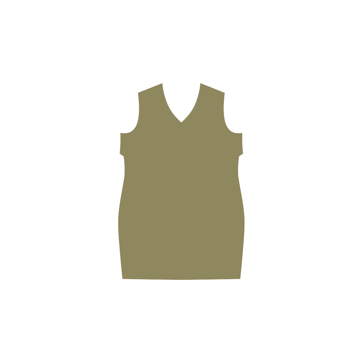Green Moss Phoebe Sleeveless V-Neck Dress (Model D09)