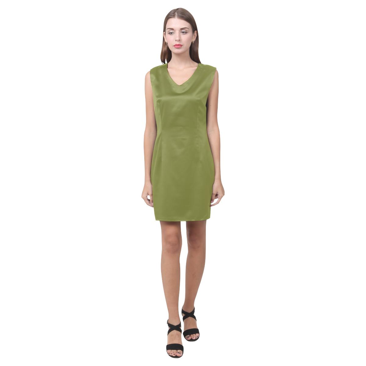 Woodbine Phoebe Sleeveless V-Neck Dress (Model D09)